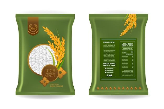 Piękny ryż ilustracja opakowanie produktu