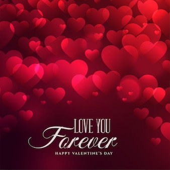 Piękny serca tło dla valentines dnia