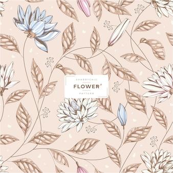 Piękny shabby chic kwiatowy wzór