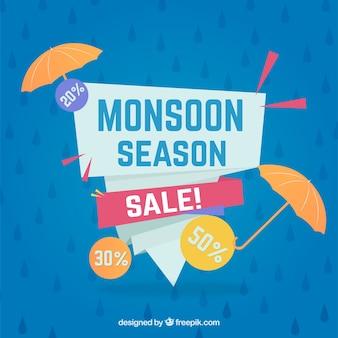 Piękny skład sprzedaży sezonu monsunowego