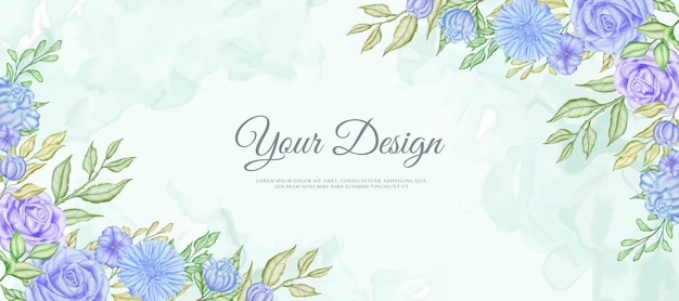 Piękny ślub kolorowy kwiatowy transparent tło