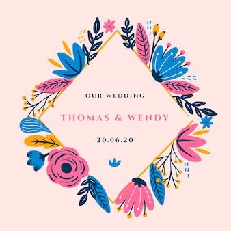 Piękny ślub kwiatowy ramki