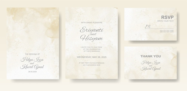 Piękny ślub tło akwarela karty z splash