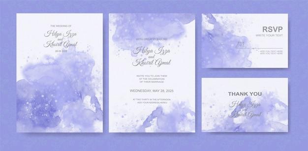 Piękny ślub tło akwarela karty