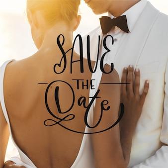 Piękny ślub zapisz datę ze zdjęciem