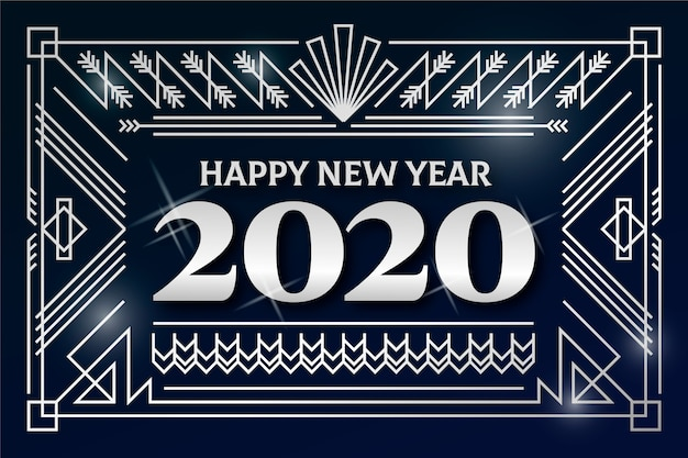 Piękny srebrny nowy rok 2020 tło