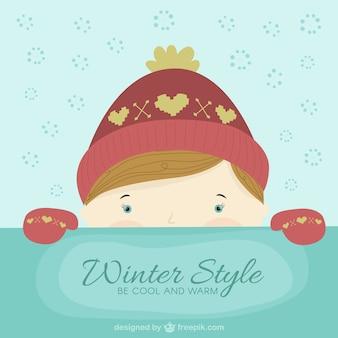 Piękny styl zimowy
