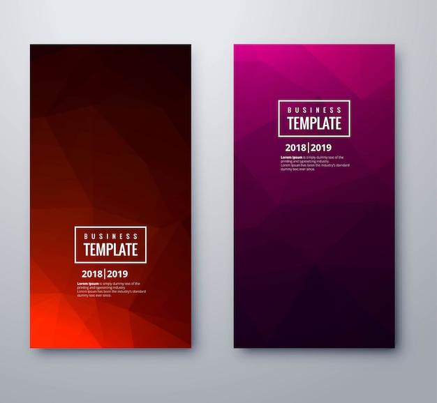 Piękny stylowy kolorowy wielokąt szablon transparent biznes