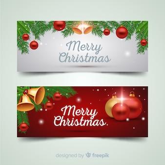 Piękny świąteczny baner na facebooku