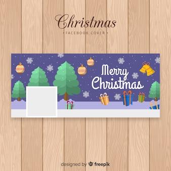 Piękny świąteczny projekt banner na facebooku