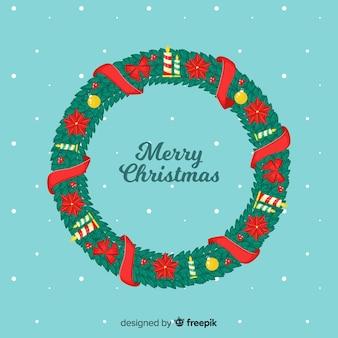 Piękny świąteczny wieniec