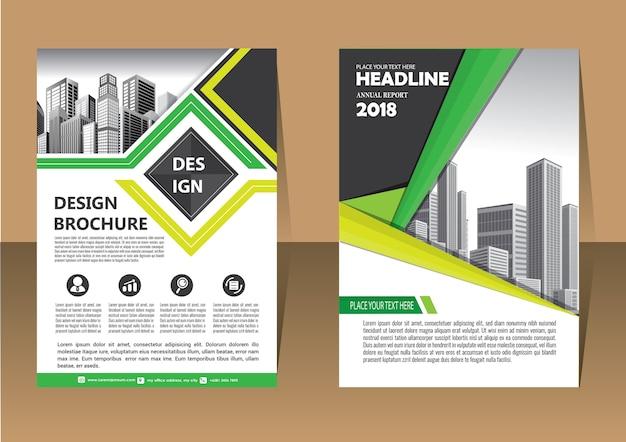 Piękny szablon broszura układ roczny raport ulotki