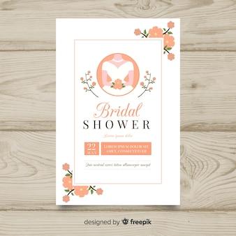 Piękny szablon dla nowożeńców prysznic