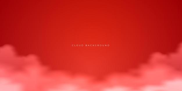 Piękny szablon projektu tła czerwonej chmury