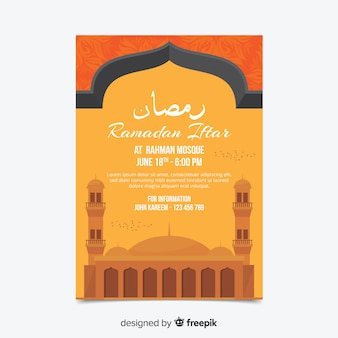 Piękny szablon zaproszenia iftar