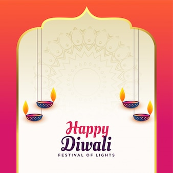 Piękny szczęśliwy diwali hindusa stylu tło