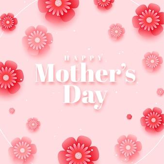 Piękny szczęśliwy dzień matki projekt tło