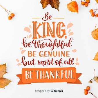 Piękny szczęśliwy napis święto dziękczynienia