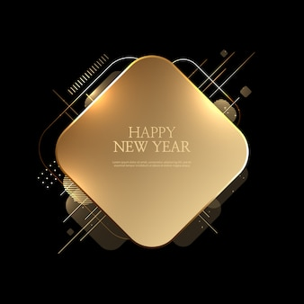 Piękny szczęśliwy nowego roku tło