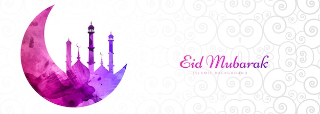 Piękny sztandar festiwalu eid mubarak