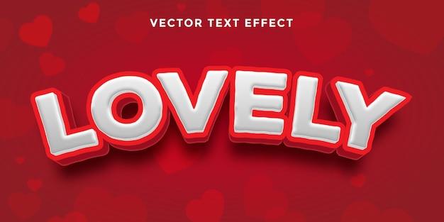 Piękny tekst walentynkowy efekt tekstowy