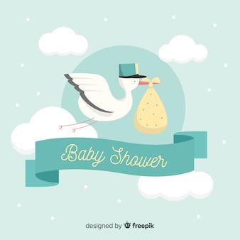 Piękny tło prysznic dla dzieci