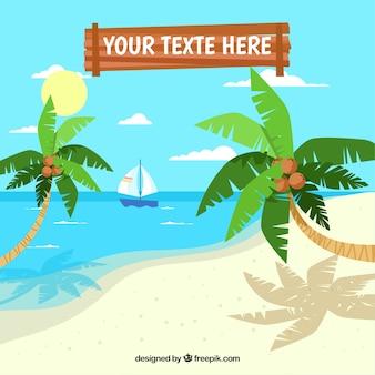 Piękny tropikalny plażowy tło