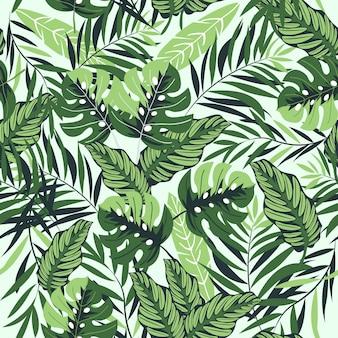 Piękny tropikalny wzór
