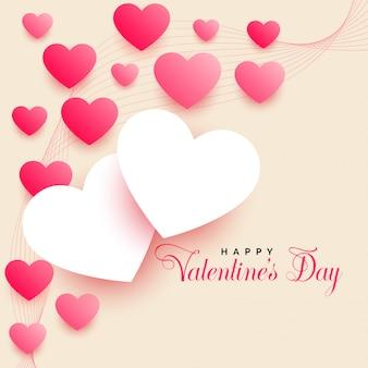 Piękny valentines day tło z pięknymi sercami