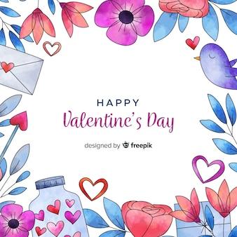Piękny valentines day tło
