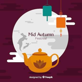 Piękny w połowie jesień festiwalu tła pojęcie