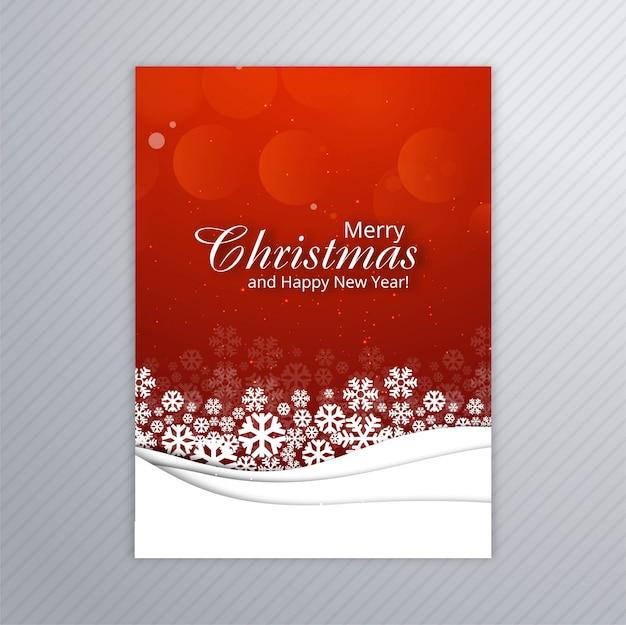 Piękny wesołych kartki świątecznej plakat