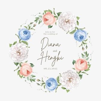 Piękny wieniec kwiatowy na ślub i dekorację