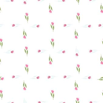 Piękny wildflower wzór na tle pasek. elegancki botaniczny design. dekoracyjny ornament kwiatowy. tapeta natura. do tkanin, nadruków na tekstyliach, opakowań, okładek. ilustracja wektorowa.