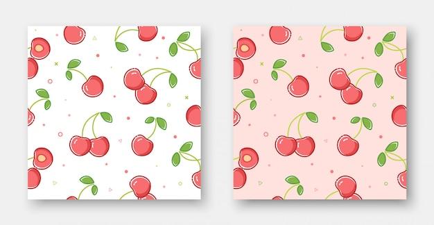 Piękny wiśniowy wzór