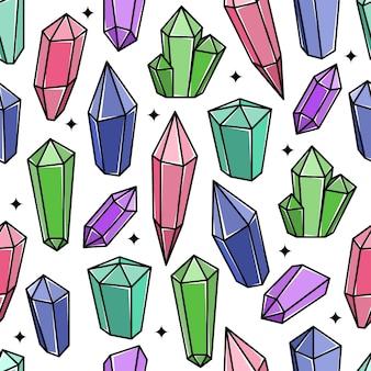 Piękny wzór bazgroły kryształów