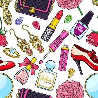 Piękny wzór elementów kobiecych