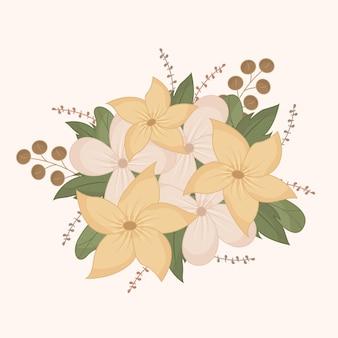 Piękny wzór kwiatowy bukiet