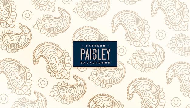 Piękny wzór paisley stylowe tło