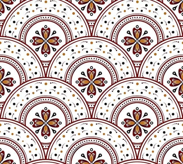 Piękny wzór w stylu batiku