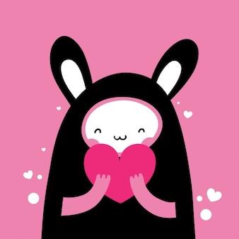 Piękny zabawny królik