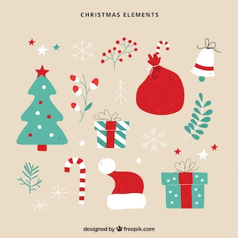 Piękny zestaw akcesoriów świątecznych