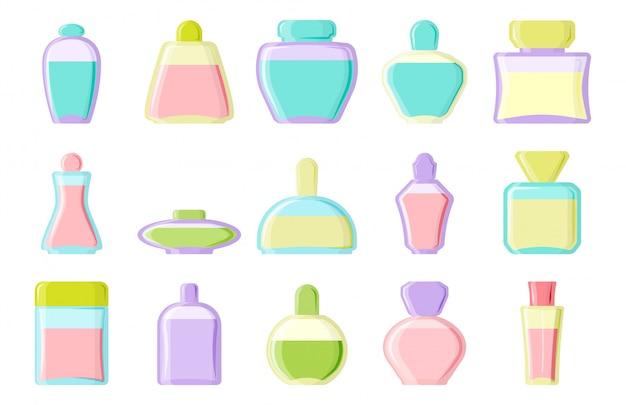 Piękny zestaw butelek kosmetycznych