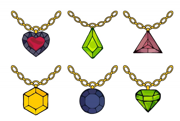 Piękny zestaw diamentów. diament wektor zarys znak.