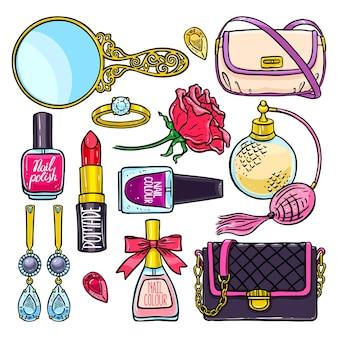 Piękny zestaw elementów kobiecych