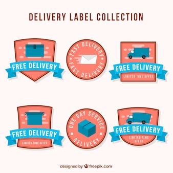 Piękny zestaw etykiet dostawczych