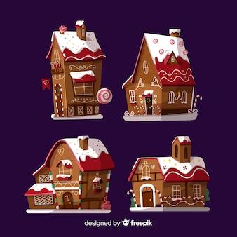 Piękny zestaw świątecznych ciasteczek imbirowych