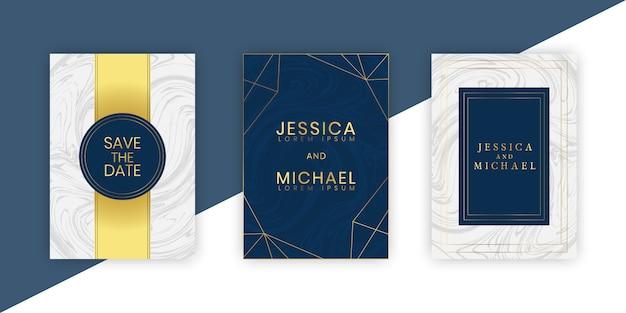 Piękny zestaw szablonów kart ślubnych