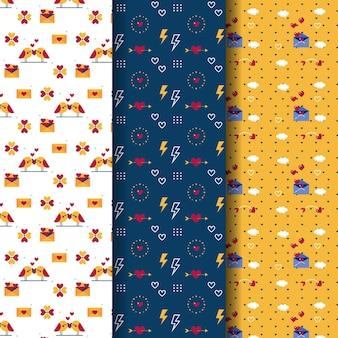 Piękny zestaw wzorów walentynkowych