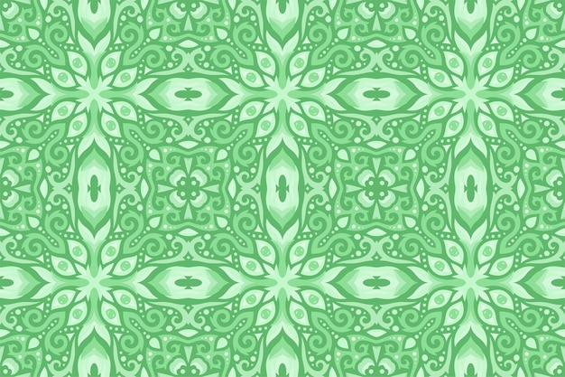 Piękny zielony wschodniej rocznika wzór z oczami